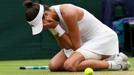 Garbine Muguruza incredula e felice. Getty