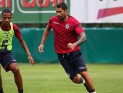 Marco Borriello, in allenamento con il Cagliari.