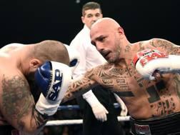 Giacobbe Fragomeni, 47 anni, al ritorno sul ring per Sap Fighting Style contro l'ungherese Polster: vittoria per k.o.