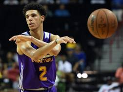 Lonzo Ball, 19 anni, dei Lakers, seconda scelta assoluta al Draft 2017. Afp