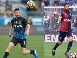 D'Alessandro con la maglia dell'Atalanta e Cataldi con quella del Genoa.