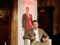 Alex Del Piero, 42 anni, in un incontro organizzato a Roma da Barca Generali.
