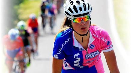 Claudia Cretti, 21 anni, con la divisa della Valcar-Pbm. Ansa