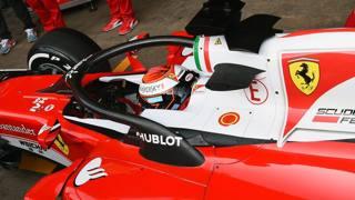 L'halo testato da Kimi Raikkonen l'anno scorso al Montmelò