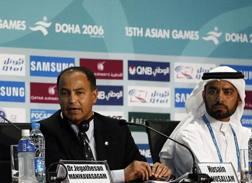 Husain Al Musallam, a sinistra, candidato alla vicepresidenza Fina, al centro di uno scandalo per corruzione AFP