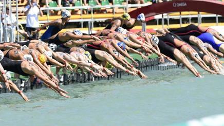 La partenza della 5km di fondo femminile ai Mondiali di Budapest, in Ungheria AP