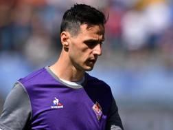Nikola Kalinic, attaccante della Fiorentina. Ansa