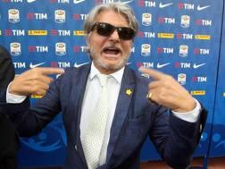 Massimo Ferrero, presidente della Sampdoria dal giugno 2014. ANSA