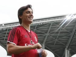 Vincenzo Montella, tecnico rossonero dal 2016. LAPRESSE