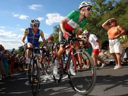 Lo sforzo di Fabio Aru in salita al Tour de France. Getty