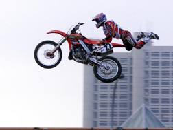 Un'esibizione di Motocross al Motorshow