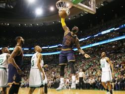 LeBron James nei playoff contro Boston. Afp