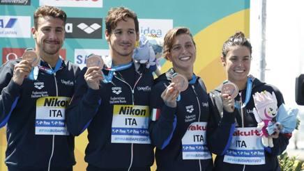 Vanelli, Sanzullo, Bruni e Gabbrielleschi sul podio. Reuters