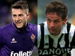 Federico Bernardeschi e Roberto Baggio