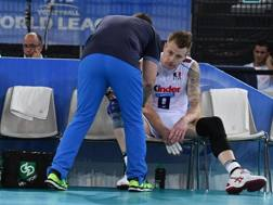 Blengini e Zaytsev durante la World League. LaPresse