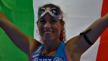 Arjola Dedaj festeggia col tricolore. Mauro Ficerai