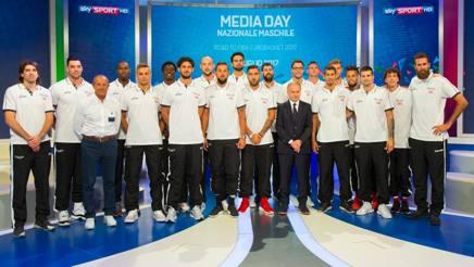 La Nazionale di Ettore Messina pronta per cominciare la preparazione per l'Europeo. Ciam/Cast