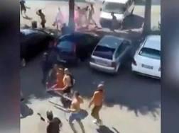 Un'immagine degli scontri