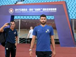Antonio Candreva nello stadio di Changzhou. Getty