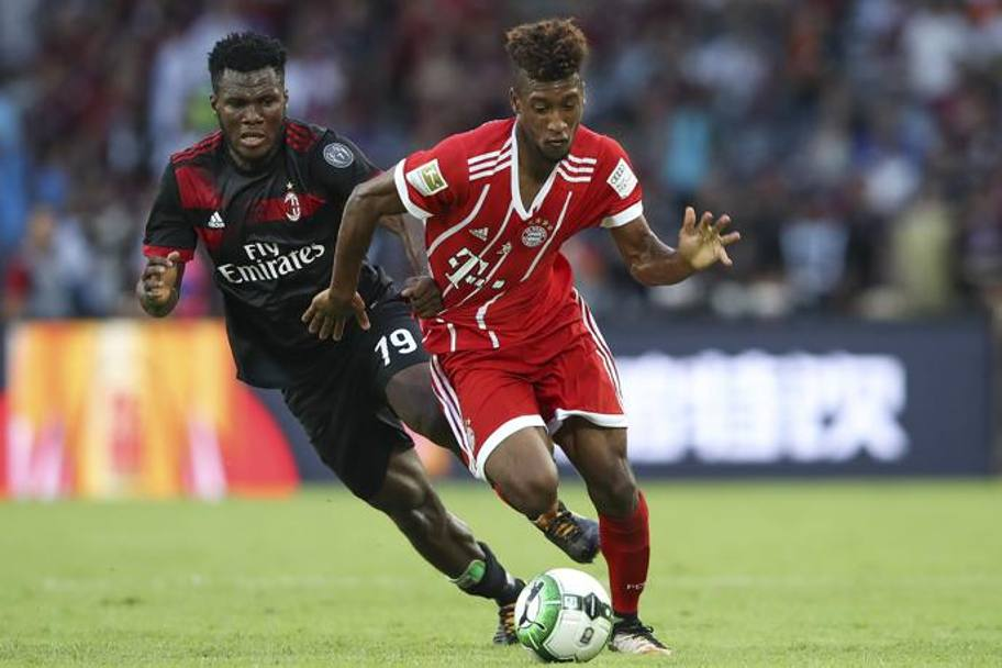 Kessie insegue Coman. Getty Images