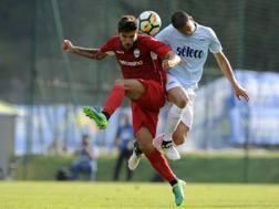 Alberto Paloschi nell'amichevole contro la Lazio. Getty