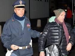Loris Stecca dopo l'arresto