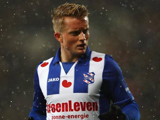 Sam Andreas Larsson, 24 anni, attaccante svedese dell'Heerenveen. Getty Images