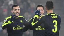 Lucas Perez (a sinistra) esulta dopo un gol. Afp