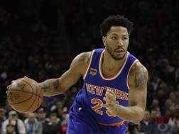 Derrick Rose, 28 anni, con la maglia dei New York Knicks. Ap