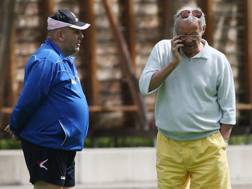 Maurizio Zamparini con Bruno Tedino, tecnico del Palermo 2017-2018. Getty Images