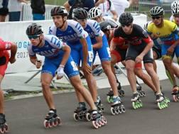 Gli azzurri  del pattinaggio di velocità n azione ai World Games