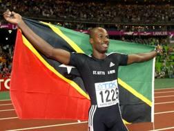 Kim Collins, 41 anni, atleta Saint Kitts&Nevis AP