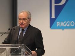 Roberto Colaninno, presidente del gruppo Piaggio. Lapresse