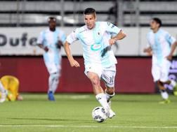 Andrea Catellani, da gennaio 2017 alla Virtus Entella, con cui ha messo assieme 19 presenze e 4 gol . LAPRESSE