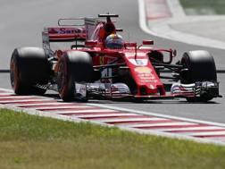 Sebastian Vettel in azione in Ungheria. Ap