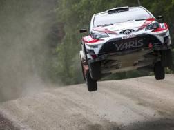 La Toyota di Esapekka Lappi vola in Finlandia. Afp