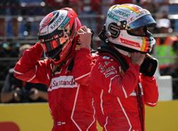 Vettel e Raikkonen. Lapresse