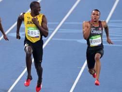 Usain Bolt, 30 anni, e Andrè de Grasse, 22 AP