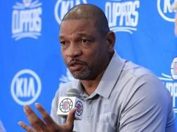 Doc Rivers, 55 anni, coach dei Clippers dal 2013. Epa