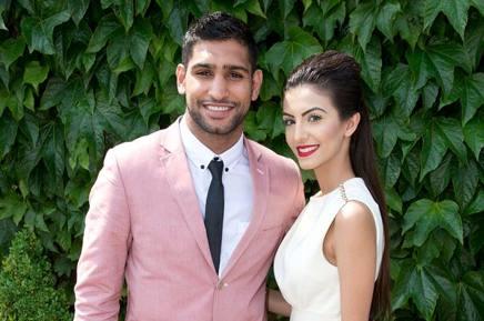 Il pugile Amir Khan con la moglie Faryal