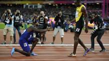 Justin Gatlin oro mondiale ma si inchina alla leggenda Usain Bolt. Reuters