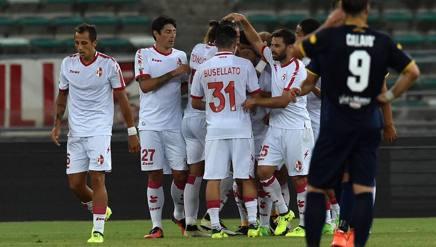 La festa per il gol di Galano per il momentaneo 1-1. Getty