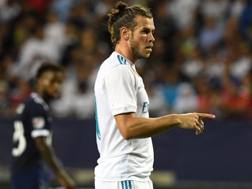 Gareth Bale, 28 anni, con la maglia del Real Madrid.