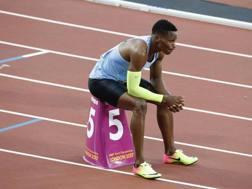 Isaac Makwala, 30 anni, non ha potuto gareggiare nella finale dei 400 metri LAPRESSE