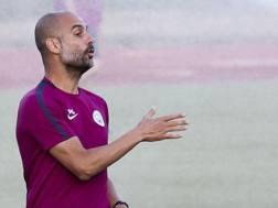 Pep Guardiola, 46 anni, tecnico del Manchester City.  Afp
