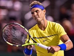 Rafael Nadal, 31 anni, sconfitto in Canada