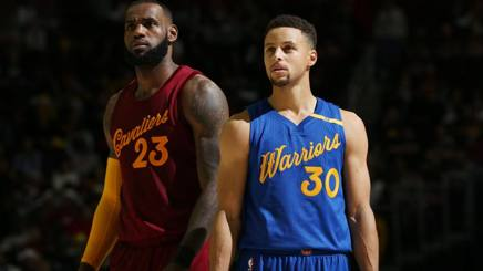 LeBron James e Steph Curry. Getty Images