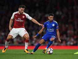 Riyad Mahrez, in azione contro l'Arsenal. Getty Images
