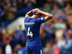 Cesc Fabregas, espulso contro il Burnley. Getty