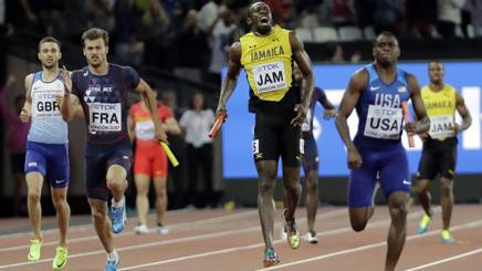 Usain Bolt, 31 anni, il momento dell'infortunio. Reuters